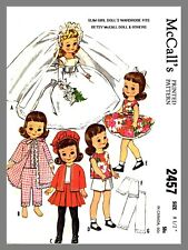 McCall's Slim Girl Doll's Wardrobe Betsy Doll Wedding Dress Sewing Pattern #2457