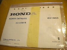Honda November 1980 EG1000 Parts Catalog 31 Pages HC103815