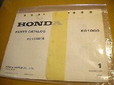 Honda November 1980 EG1000 Parts Catalog 31 Pages HC103815