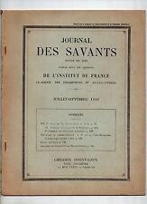JOURNAL DES SAVANTS 1950 ARCHEOLOGIE AFGHANISTAN EMPIRE BYZANTIN PAPES D'AVIGNON