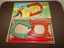 VINTAGE TOY AUBURN OUTDOOR RUBBER HORSE SHOES  GAME 702  IN BOX