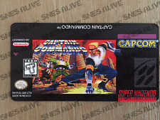 Captain Commando Snes Cartridge Replacement Game Label Sticker Precut