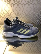Adidas Adizero Club, All Court Tennis Trainers, Blue & Yellow 3 Stripe, Uk 7