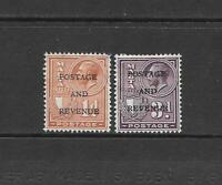 1928 King George V SG177 and SG182 Optd. POSTAGE AND REVENUE Mint Hinged  MALTA