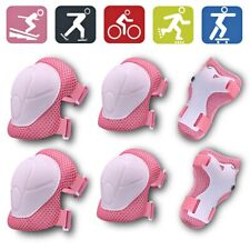 6 In1 Set Kids Elbow Wrist Knee Pads Sports Safety Protective Gear Guard Bicycle