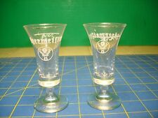 JAGERMIESTER CRYSTAL SHOT GLASSES 2 NEW