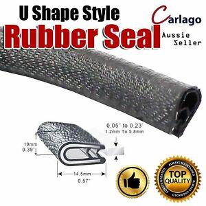 5M Pinchweld U Channel Rubber Seal Trim Car Ute Marine Door Trunk Edge Protector