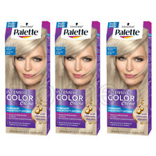 3x Schwarzkopf PALETTE A10 Ash Blonde Intensive Color Creme Permanent Hair Color