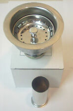 Professional Kitchen Sink Strainer with Basket and Tailpiece - Polished Chrome