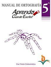 Manual Ortografia 5to Grado by Celvia De Oleo (2014, Paperback)