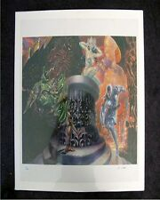 NED DAMERON LITHOGRAPHS BLACK COLLOSUS SET/4 S/N