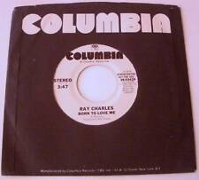 Ray Charles Born To Love Me Promo 45 NM+