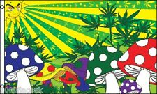 Magic Mushroom Hippy 5'x3' Flag !