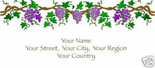 Custom Address Mailing Labels Personalized Grape Vines