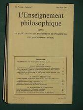 L'enseignement philosophique Mai-juin 1994 Dossier : Philosophes espagnols