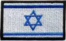 Toppa ricamata patch termoadesiva BANDIERA ISRAELE cm. 8 x 5