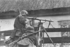 WW2 Photo, German MG34 in Action WWII K98 Wehrmacht World War Two Germany / 2095