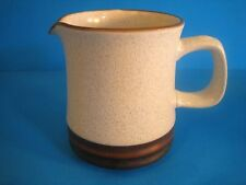 Denby Creamer Potter's Wheel Parchment England Brown Band Speckled Tan Stoneware