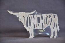 Texas Longhorn Bull Cattle Wood Scroll Saw Toy Puzzle