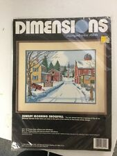 "Dimensions Stamped Cross Stitch ""Sunday Morning Snowfall"" Kit"