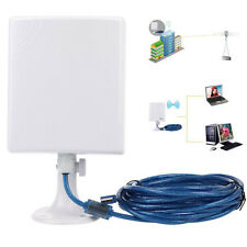 2.4 GHz Weiß 2.5KM High Gain Outdoor Waterproof 150M USB Wireless Wifi Adapter