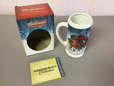 NIB 2007 Budweiser Stein Winter's Calm Illustrator Jeff Wack #508Z