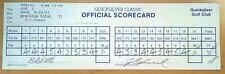 PGA GOLF QUICKSILVER CLASSIC TOURNAMENT SCORECARD 2-72 J.C. SNEAD 9/4/93