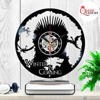 Game of Thrones House Targaryen Dragons Vinyl Record Wall Clock Room Decor Gift