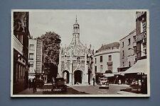 R&L Postcard: Chichester Cross, Vintage Cars, 1940's, Valentine