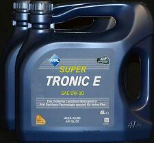 2x4 Liter ARAL SUPER TRONIC E 0W-30 Motoröl 0W30 ACEA A5 B5 VOLVO RENAULT HONDA