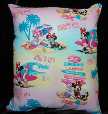 NEW HANDMADE DISNEY MINNIE MOUSE SURF'S UP  TRAVEL//TODDLER PILLOW
