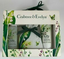 Crabtree & Evelyn LILY Mini Gift Set Bath & Shower Gel, Lotion And Sachet