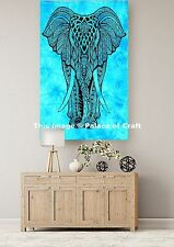 Royal Ethnic Elephant Wall Hanging Beach Throw Indian Small Tapestry Table Cloth