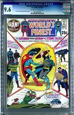 World's Finest #197 (DC, 10-11/70) CGC 9.6!White! Superman fights Batman!