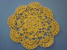 Yellow Cotton Crochet Doiley Doilies - Handmade - 20cms approx