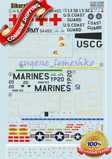 """Print Scale 72-088 """" Wet Decal for Sikorsky H-34 """" Model Decals 1/72"""