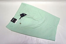 Chaps Oxford Cloth Flat Front Mens Green Shorts Size 34 X 10 - Ggg10