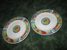 """Lot of 2 Majesticware Oneida Crystal Rose Flower Bread Dessert Plate 7.5"""""""