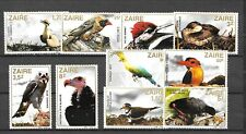 ZAIRE Sc 1091-1100 NH issue of 1982 - BIRDS
