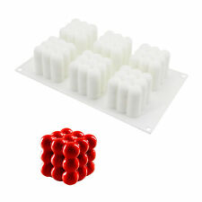 Silicone Candle Mould 3D Rubik Handmade Soap Making Tool Craft Resin Clay Mold
