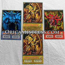 Yu-Gi-Oh! Custom Anime Orica - EGYPTIAN GODS #1 - 4 Card Set