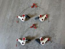 TRP EuroX Mag Magnesium Cantilever brake set  cyclocross front rear red white