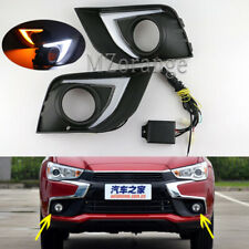 Pair LED Daytime Running Light DRL Fog Lamp for Mitsubishi ASX RVR 2016-2018