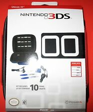 3DS-3DSXL-DSi-DSiXL Nintendo Ultimate Kit - Black - With Free Headset!!- New!!