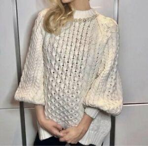 In hand Ready to Ship! Simone Rocha X H&M HM Chunky-knit jumper MEDIUM