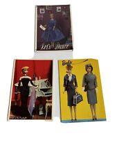 Vintage 1989 LOT 3 Nostalgic Barbie Postcards Blank Unstamped Excellent