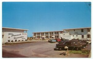 Ocean City MD The French Quarter Motel Old Cars Postcard ~ Maryland