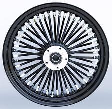 "Black/Black Ultima 48 King Spoke 16"" x 3.5"" Front SD Wheel for Harley and Models"