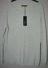 LADIES M&S PURE CASHMERE JUMPER - V NECK - NEUTRAL -  SIZE 6 - BNWT