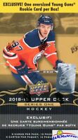2018/19 Upper Deck Series 1 Hockey SPECIAL Factory Sealed Box-JUMBO YOUNG GUN !
